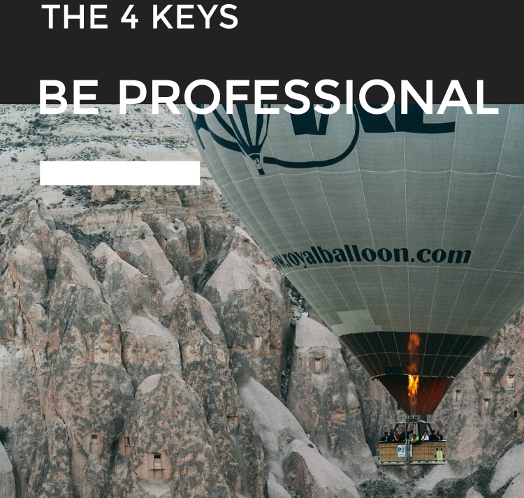 THE 4 KEYS BE PROFESSIONAL